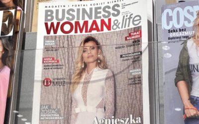 Okładka magazynu Businesswomanlife nr 51 ( 10/11.2019) Empiki, Poczta  Polska, salony prasowe w całej Polsce