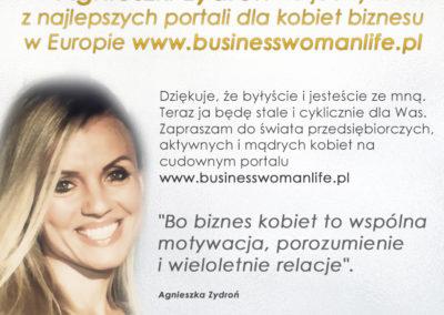 Autorka rubryki z felietonami na portalu www.businesswomanlife.pl